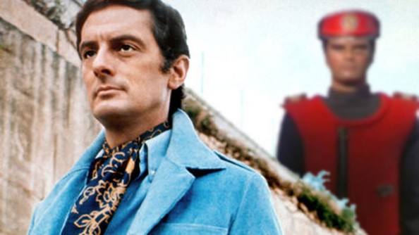 Francis Matthew is Paul Temple while Captain Scarlet looks on